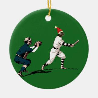 Enfeites de natal do basebol do vintage