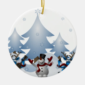 Enfeites de natal do boneco de neve