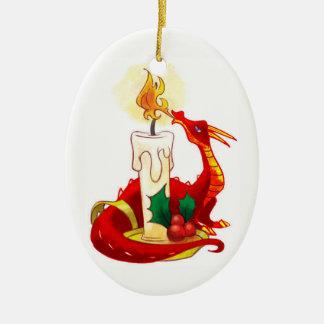 Enfeites de natal do dragão do fogo