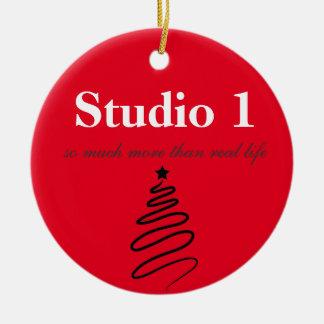 Enfeites de natal do estúdio 1