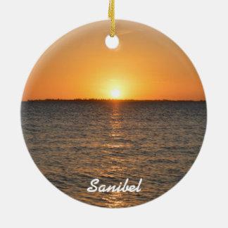 Enfeites de natal do por do sol da ilha de Sanibel