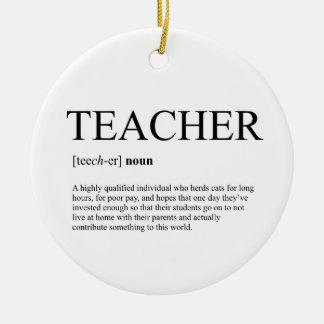 Enfeites de natal do professor