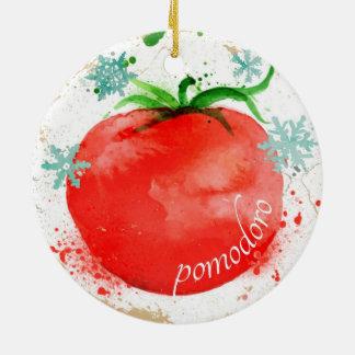 Enfeites de natal italianos da comida do tomate da