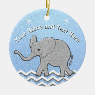 Enfeites de natal personalizados do elefante do