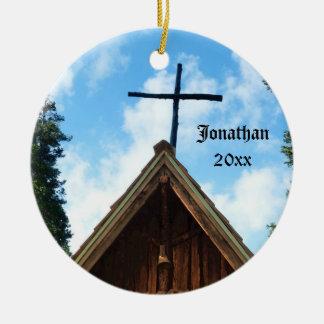 Enfeites de natal personalizados igreja do país de