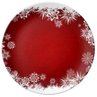 Enfeites de natal pratos de porcelana