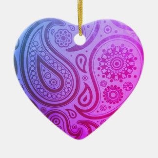 Enfeites de natal roxos do impressão de Paisley