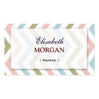 Enfermeira - Chevron gracioso natural Cartão De Visita