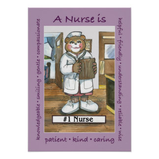 Enfermeira, fêmea no escritório pôsteres