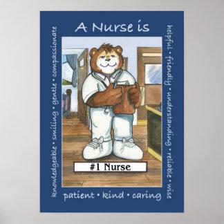 Enfermeira, homem no escritório posters