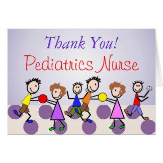 """Enfermeira """"obrigado que da pediatria você"""" carda cartão"""