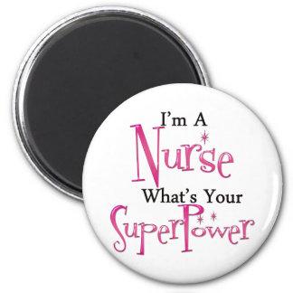 Enfermeira super ímã redondo 5.08cm
