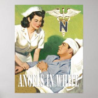 Enfermeiras das forças armadas - anjos no poster b pôster