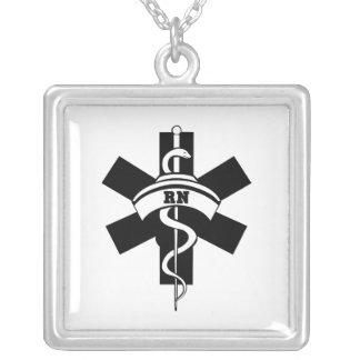 Enfermeiras do RN Colar Banhado A Prata