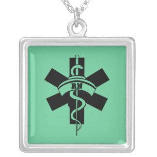 Enfermeiras do RN Colar Com Pendente Quadrado
