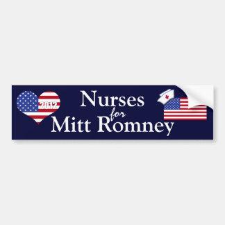 Enfermeiras para o Romney-Coração da luva+E.U. Ban Adesivo Para Carro