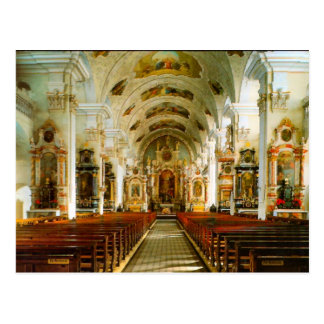 Engelberg, igreja católica romana cartão postal