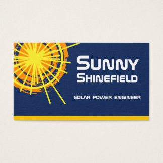Engenheiro da energia solar customizável cartão de visitas