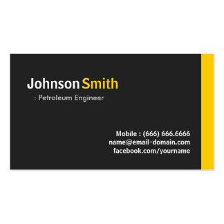 Engenheiro do petróleo - âmbar minimalista moderno cartão de visita