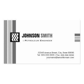 Engenheiro do petróleo - branco preto criativo cartão de visita