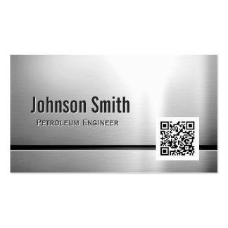 Engenheiro do petróleo - código de aço inoxidável cartão de visita