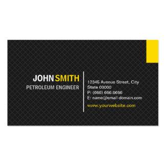 Engenheiro do petróleo - grade moderna da sarja cartão de visita