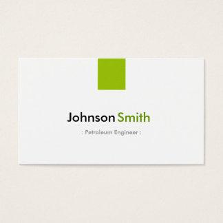 Engenheiro do petróleo - verde simples da hortelã cartão de visitas