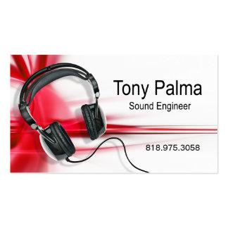 Engenheiro sadio liso - cartão de indústria musica cartão de visita