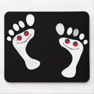 engraçado criativo dos pés do smiley mousepad