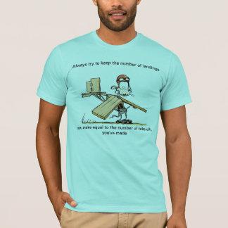 Engraçado descole o t-shirt da piada da aviação
