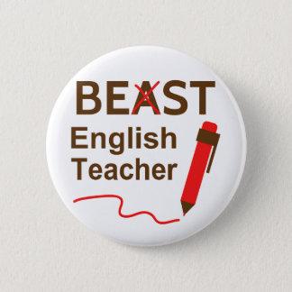 Engraçado e maluco, animal ou o melhor professor bóton redondo 5.08cm