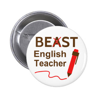 Engraçado e maluco, animal ou o melhor professor d bóton redondo 5.08cm