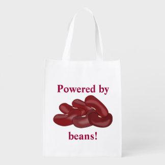 Engraçado psto pelo feijão vermelho vegetariano ou sacolas ecológicas