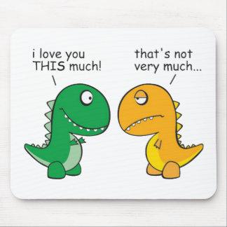engraçado-T-Rex-pequeno-braço-desenhos animados Mouse Pad