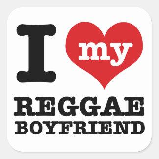Engrenagem da dança da reggae adesivo quadrado