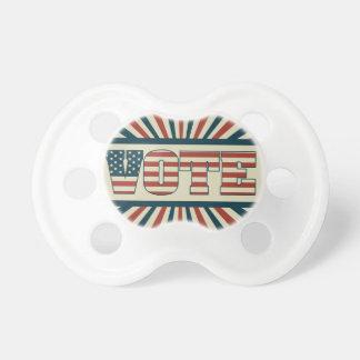 Engrenagem de votação retro chupeta de bebê