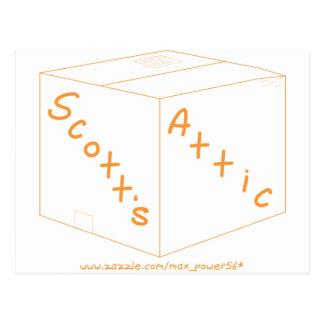 Engrenagem do logotipo do sótão de Scott Cartão Postal