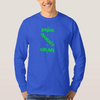 ENGRENAGEM LIVRE do AGENTE de $, azul, longsleeve, Tshirts