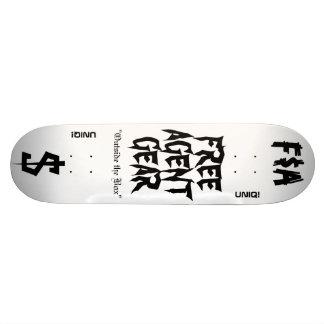 ENGRENAGEM LIVRE do AGENTE de $, plataforma do Shape De Skate 18,4cm
