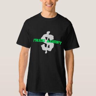 ENGRENAGEM LIVRE do AGENTE de $, preto, tshirt, Tshirts