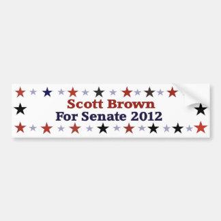 Engrenagem política republicana de Scott Brown Adesivo Para Carro
