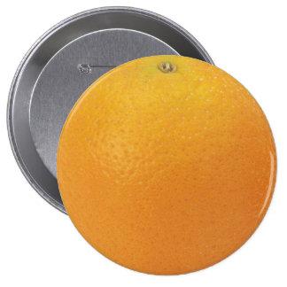 Enorme alaranjado, botão redondo de 4 polegadas bóton redondo 10.16cm