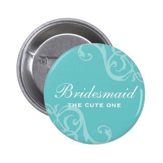 Enrole o botão azul do pino do crachá do nome de e bóton redondo 5.08cm
