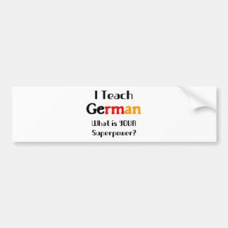 Ensine o alemão adesivo para carro