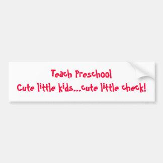 Ensine o pré-escolar adesivo para carro