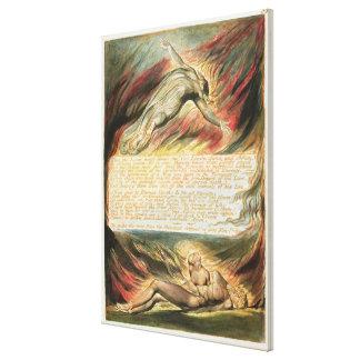 """""""Então a mão divina…"""", chapeia 35 'de Jerusale Impressão De Canvas Envolvida"""