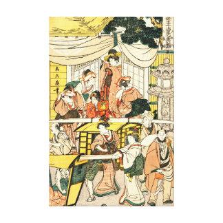 Entrada 1802 do restaurante impressão de canvas envolvidas