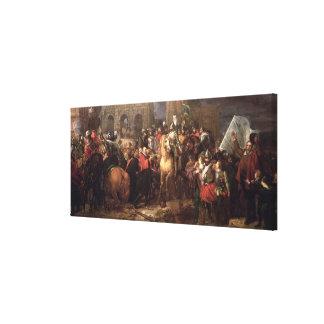 Entrada de Henri IV em Paris, o 22 de março de 159 Impressão De Canvas Esticada