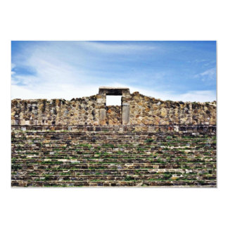 Entrada de pedra do palácio, 100 BC Monte Albán Convite 12.7 X 17.78cm