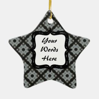 Entrecruzamento preto cinzento ornamento de cerâmica estrela